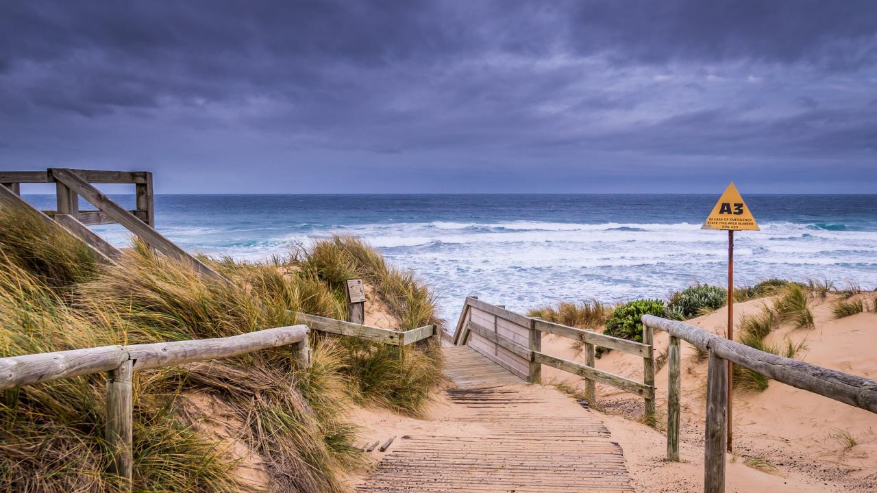A view of Cape Woolamai beach at Phillip Island.