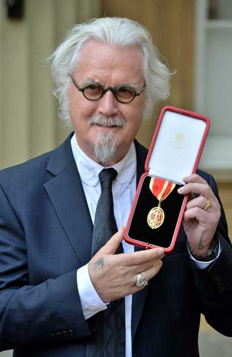 Billy Connolly after being knighted in October 2017. Picture: John Stillwell/WPA Pool/Getty Images
