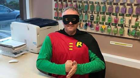 Rob even donned a superhero costume in his crime-fighting appeal.