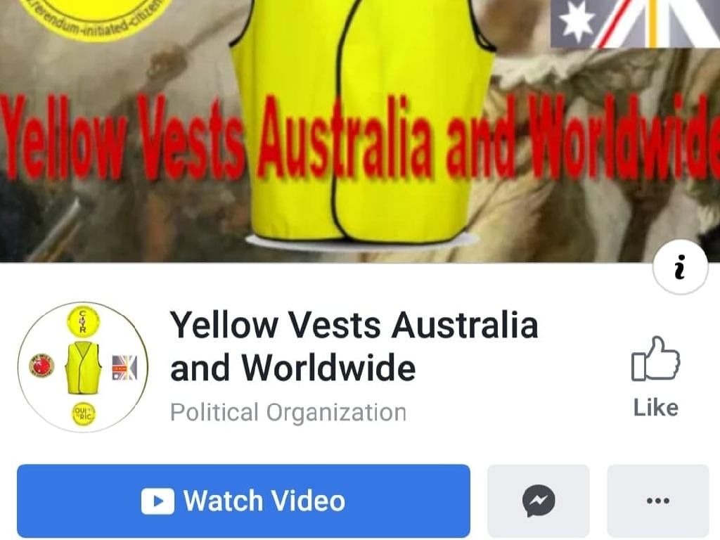 The Yellow Vests Australia and Worldwide Facebook group