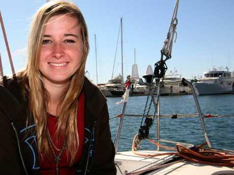 Abby Sunderland aboard Wild Eyes in 2010.
