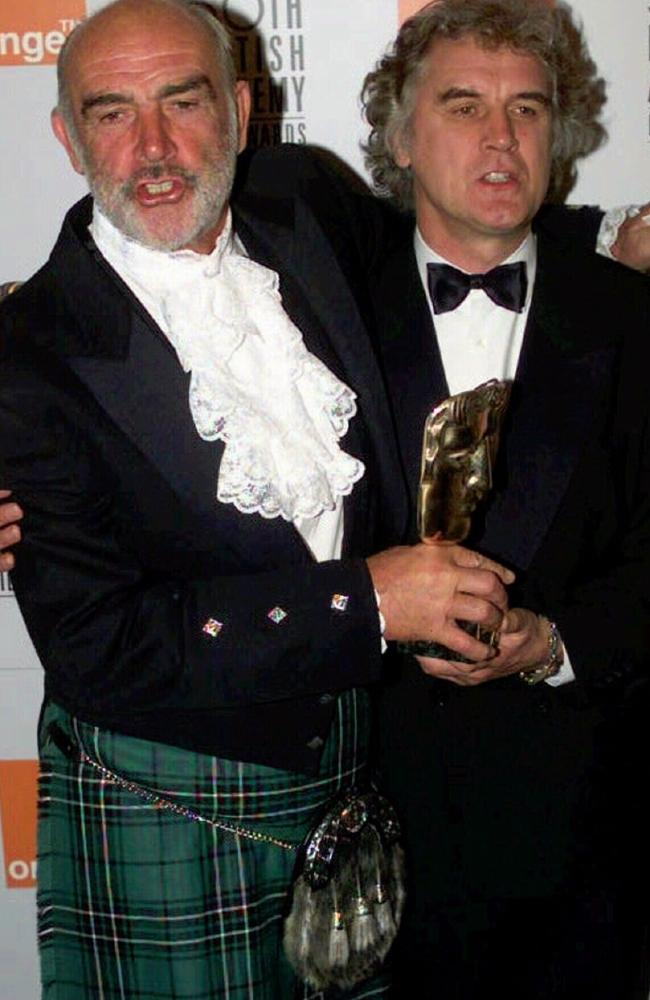 Fellow Scot Sean Connery with Billy Connolly at the 1996 BAFTA awards where Connery was presented with a lifetime achievement award.