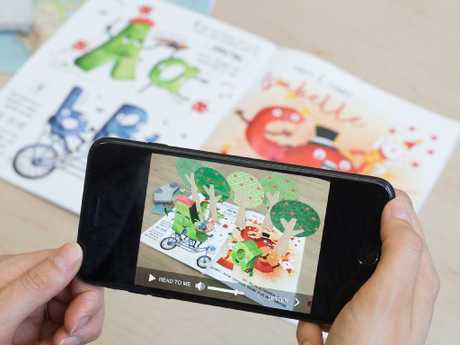 Augmented reality brings a kids book to life.