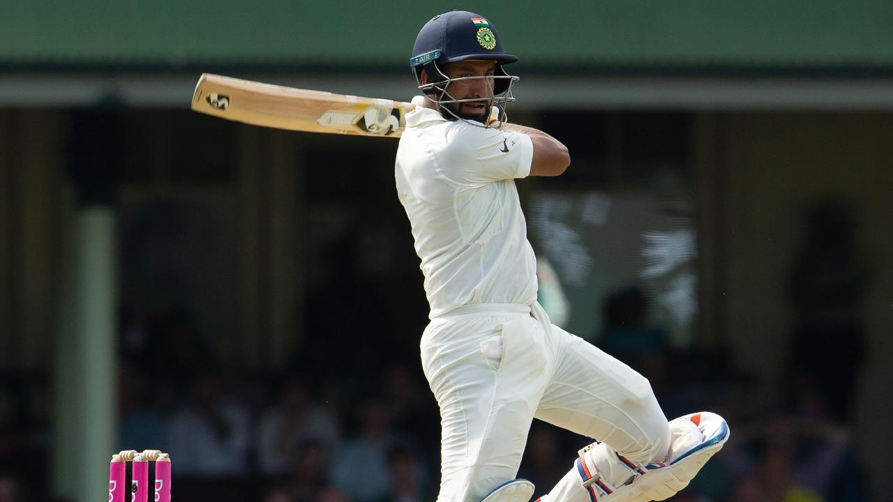 Cheteshwar Pujara dominated the Australian attack at the SCG. Picture: AAP