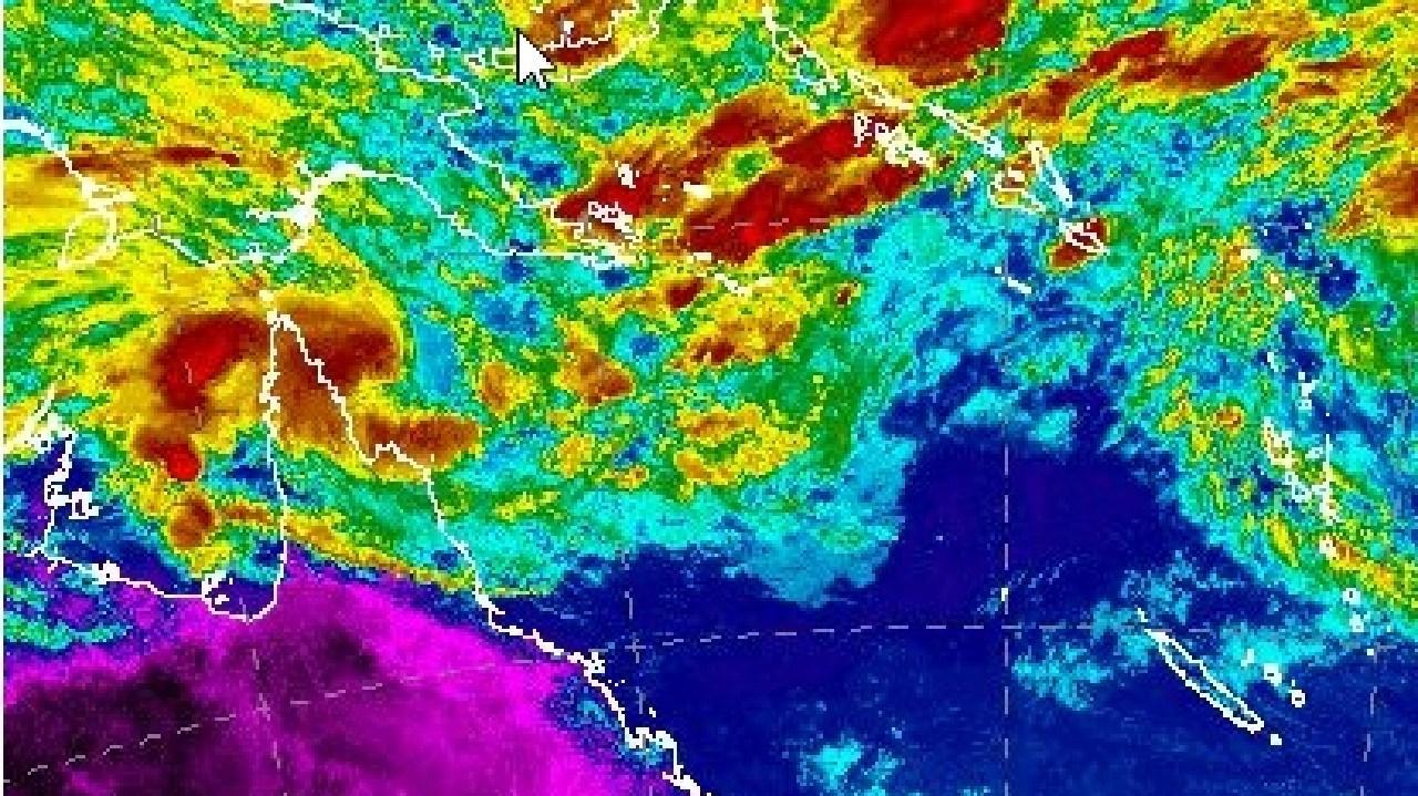 Bureau of Meteorology weather mapping on Wednesday of Tropical Cyclone Penny.