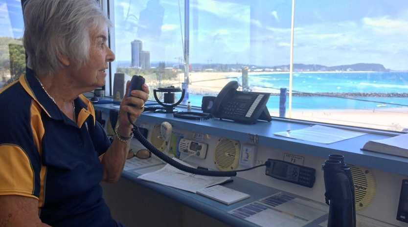 ON THE JOB: Longtime Currumbin Marine Rescue volunteer Brenda Warren enjoys the chance to help others, and the view that goes with it.
