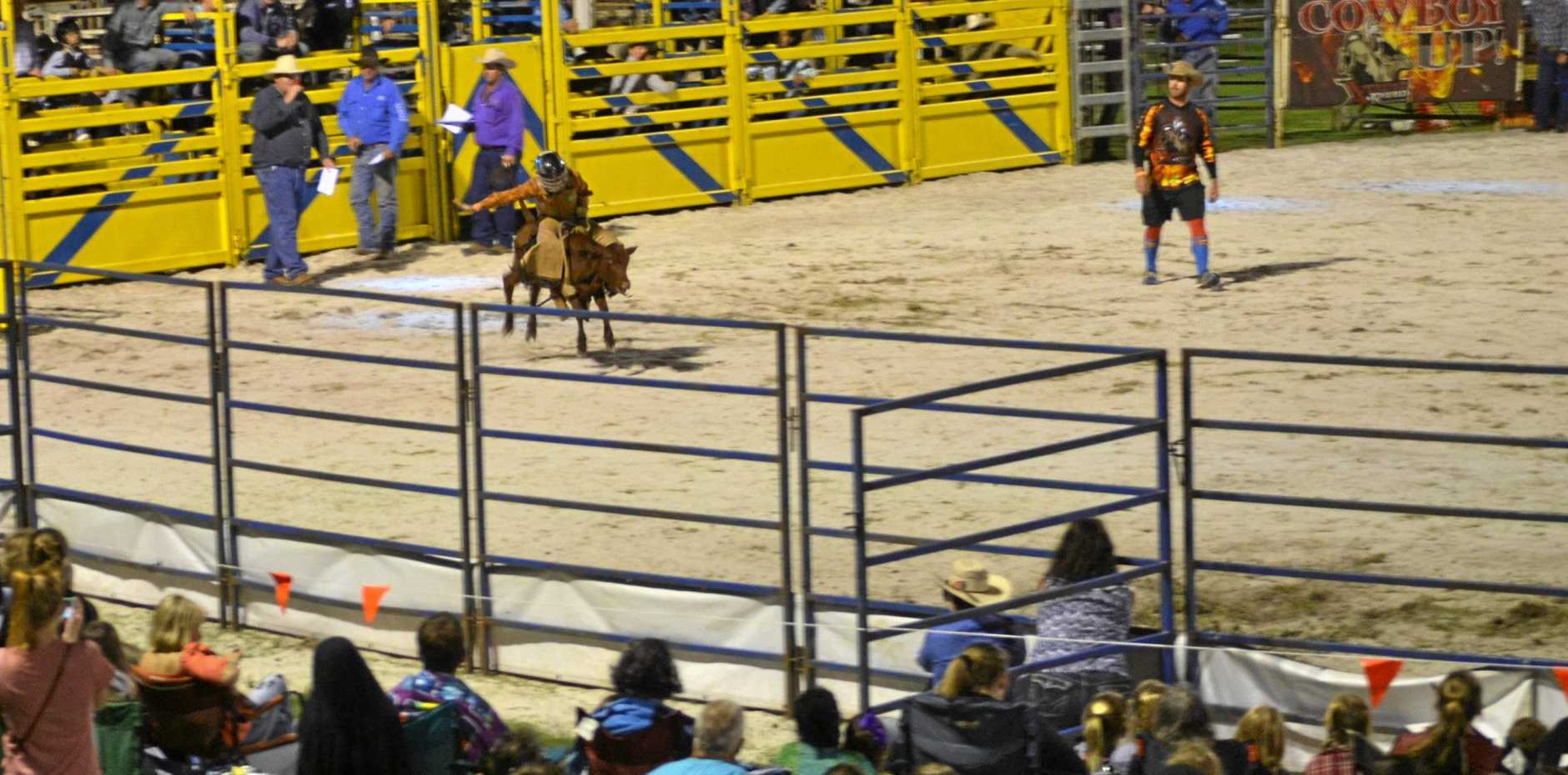 RODEO ACTION: The Pirates action will see plenty of bull riding thrills and spills.