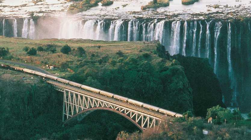 RAIL TRAVEL: The gloriously dramatic Victoria Falls.