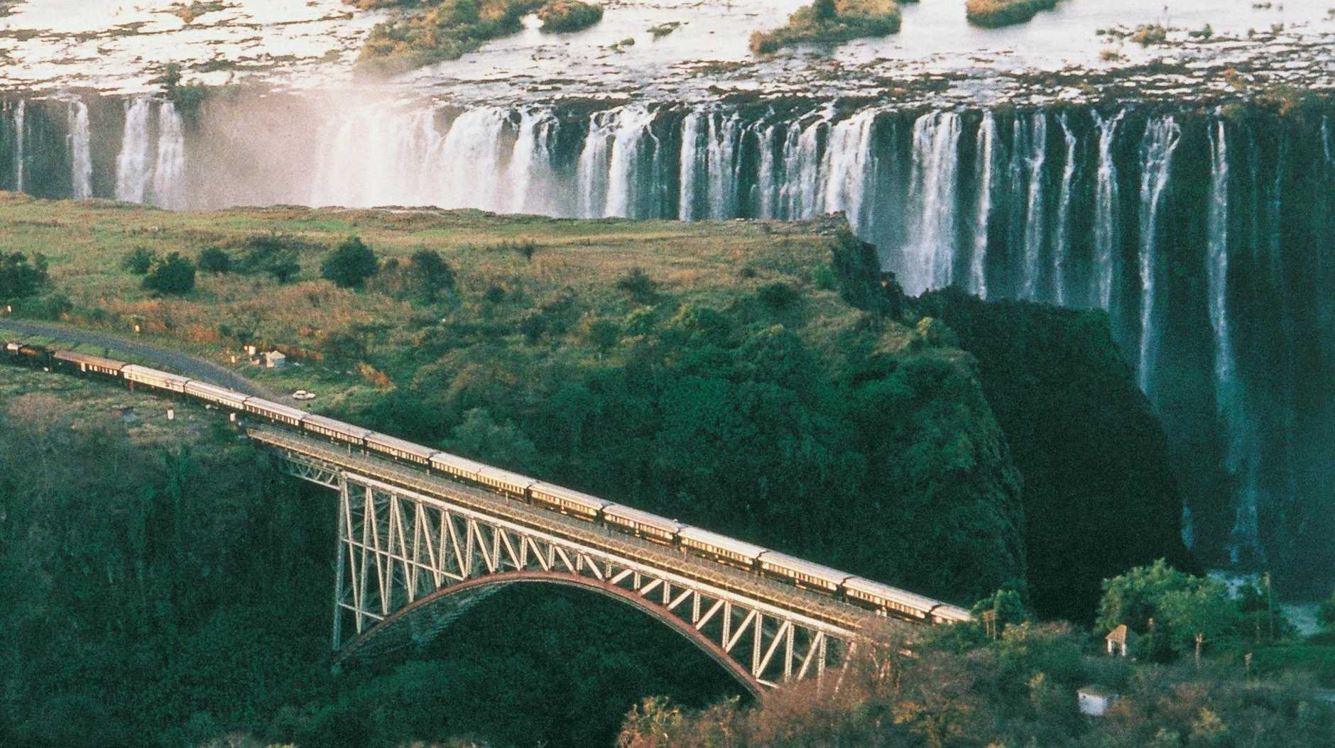 RAIL TRAVEL: The gloriously dramatic Victoria Falls.