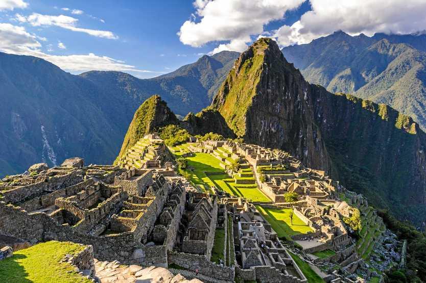 RAIL TRAVEL: High up in the Peruvian hills, Machu Picchu.