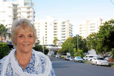 Stewart Property's Vicki Stewart at Mooloolaba Photo Erle Levey / Sunshine Coast Daily