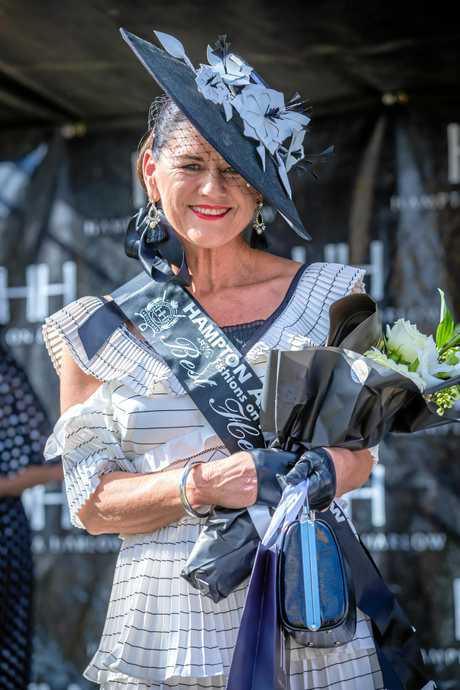 Races - Fashions of the Field - Verelle O'Shanesy winner best Headwear.
