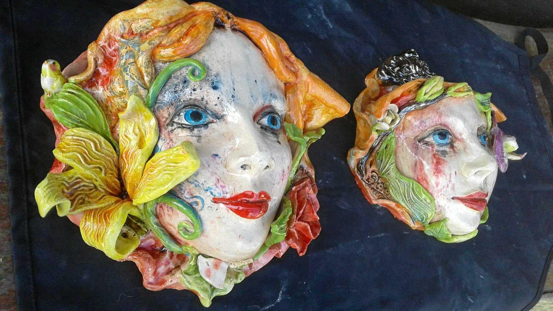 Potted lady masks.