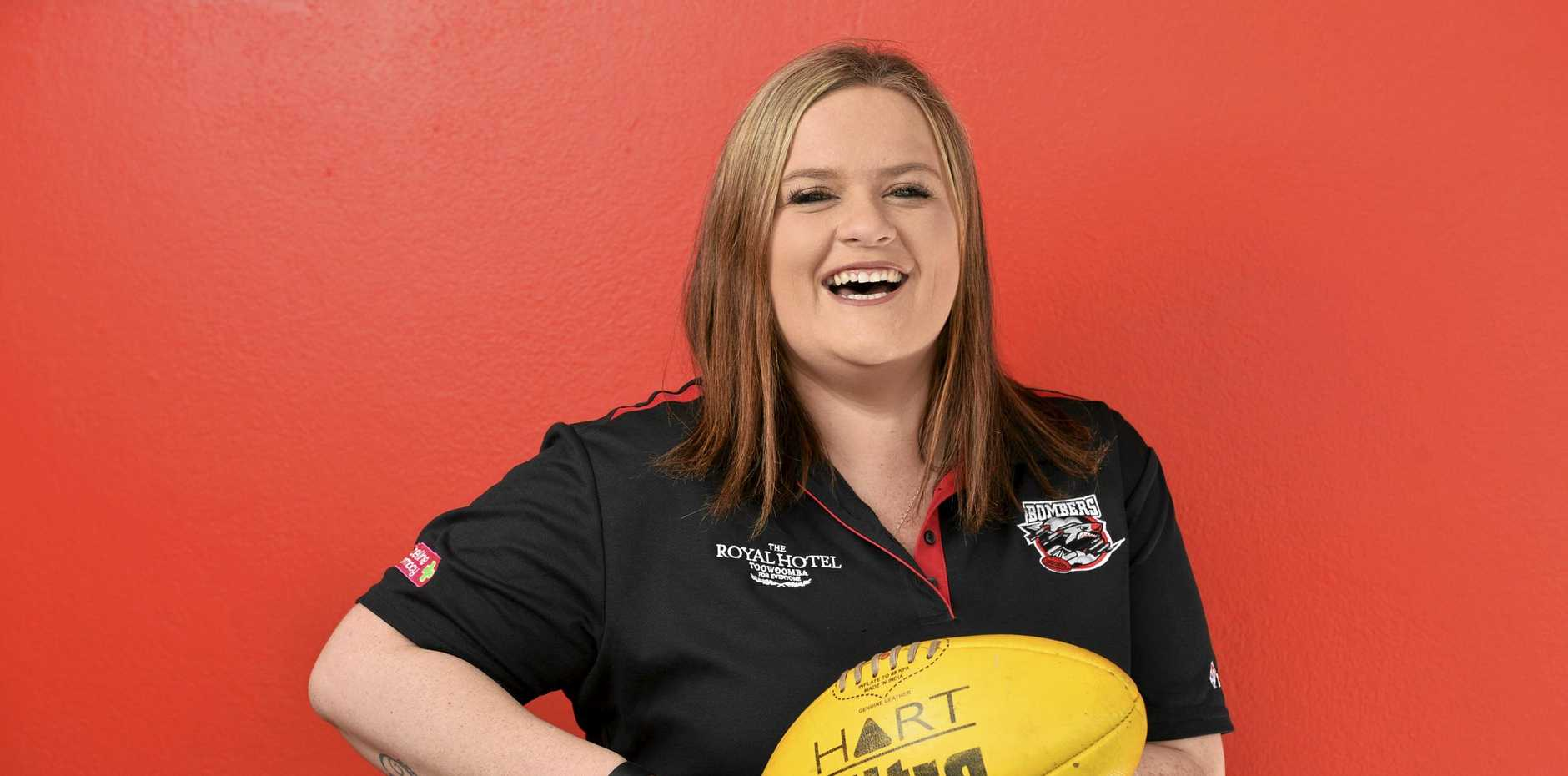 PASSIONATE VOLUNTEER: South Toowoomba Bombers club member Sophie Smith has been nominated for Sports Darling Downs coach and volunteer of the year awards.