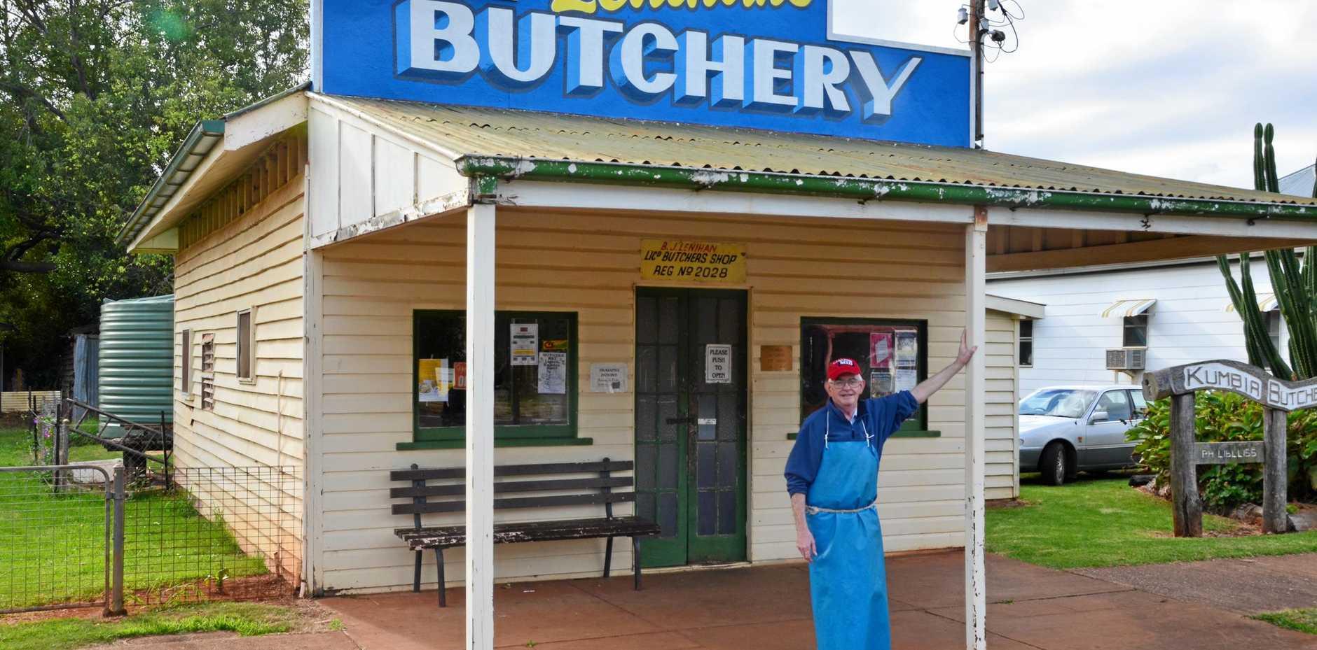 KUMBIA BUTCHER: Brian Lenihan has owned the Kumbia butcher for 42 years.