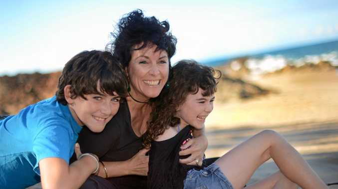 ACTIVITIES: University of the Sunshine Coast Doctor Ali Black with her children, Brodie (left) and Bella, up at Agnes Water back in 2012.