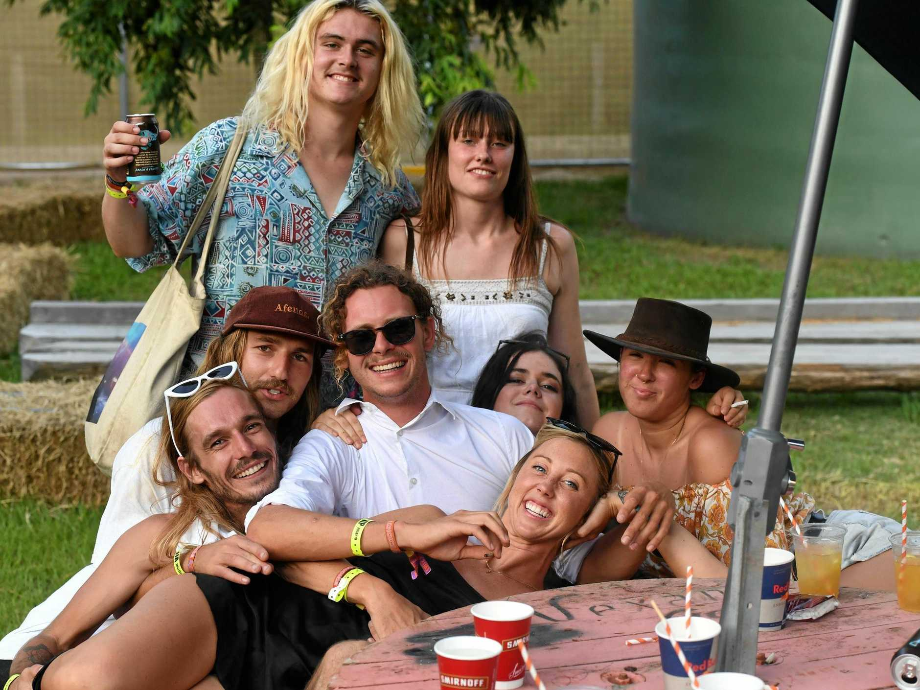 FUN EVENT: Music lovers at Falls Festival Byron Bay 2018/19.