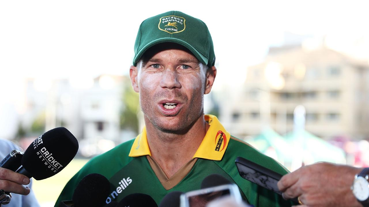 David Warner is on his way back. Picture: Mark Metcalfe/Getty Images