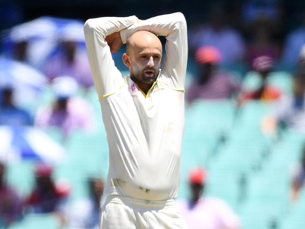 It was one of those days for Nathan Lyon. Picture: AAP
