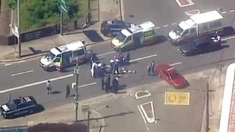 A major police operation is under way in Rockdale. Picture: 7 News.