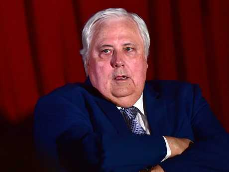 Clive Palmer claims copyright over his rewritten lyrics for his party ads. Picture: Shae Beplate.