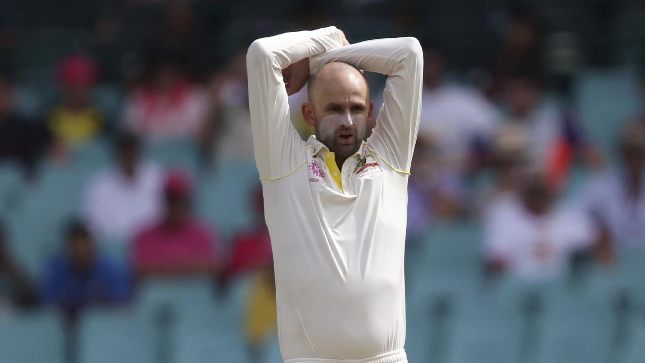 Nathan Lyon's frustration is palpable. Picture: Rick Rycroft/AP