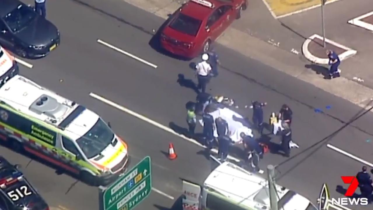 Multiple police and ambulance crews are at the scene in Arncliffe. Picture: 7 News.