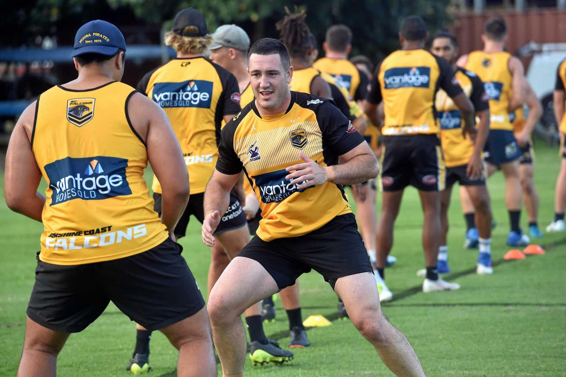TRAINING HARD: Sunshine Coast Falcons' Martin Cordwell.
