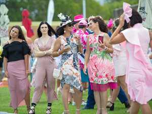 Racegoers excited to look pretty in pink