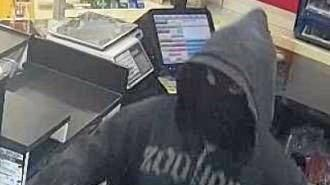 The knife-wielding robber targeted a Slade Point convenience store.