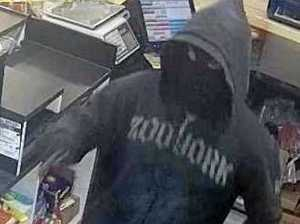 Knife-wielding masked bandit still on the loose