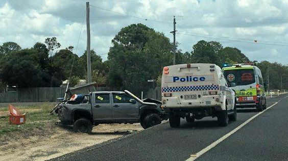 A woman has been hospitalised after a two-vehicle crash in Meadowvale.
