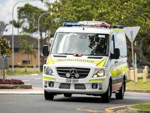 Motorbike rider hospitalised after crash