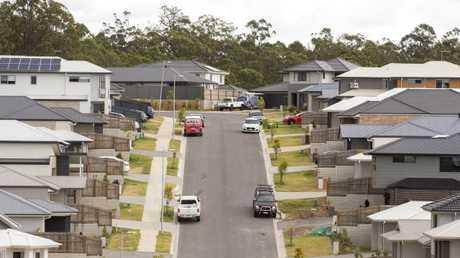 Housing in the Springfield region. Image: AAP/Richard Walker.