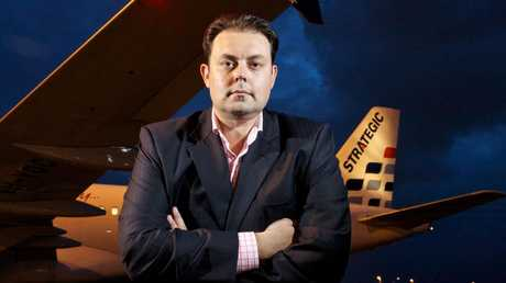 Michael James was banned from running companies for three years after his airline went bust. Picture: Liam Kidston