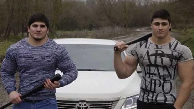 "Tamaev Asxabhe, left, the ""Russian KGB Hulk"", looks like a handful."
