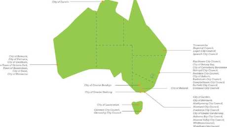 The council areas which have the most to benefit from increasing greening efforts and the tree canopy.