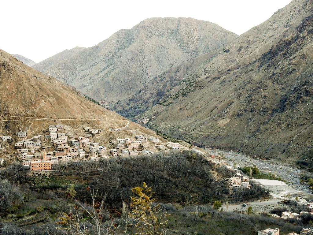 The village of Imlil on the slopes of the Atlas mountains in Morocco, about 10km from the spot where the bodies of two Scandinavian women were found. Picture: AP