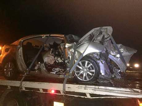 A Burnett Heads man sadly died in a horrific traffic crash on Mittelheusers Rd.