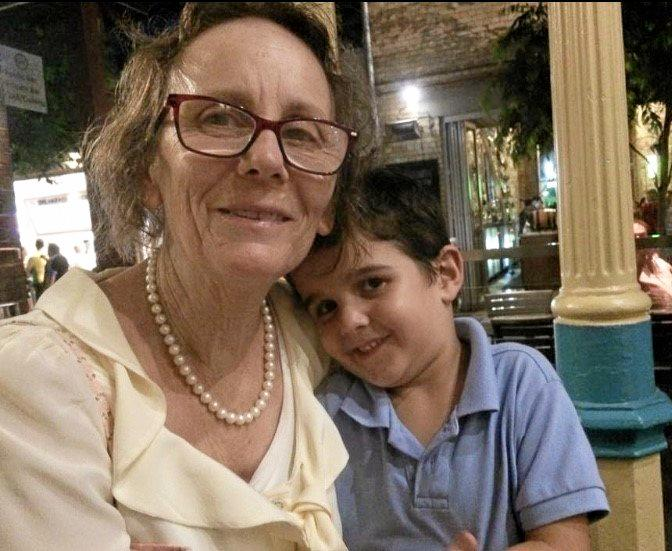 Family historian, Kaye Hart pictured with her grandson, Brady.