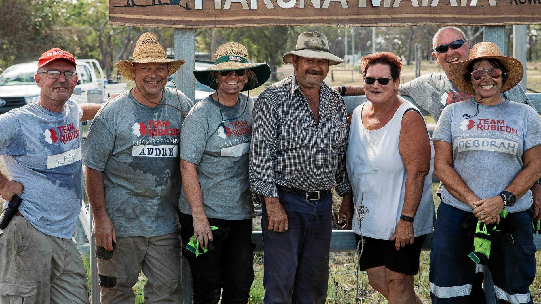 HELPING HANDS: Operation McLeod's Sean Gorman, Andre Duyker, Peta-Maree Grant, Chris Rowe, Robin Rowe, Deborah Fenton and John Bettley.