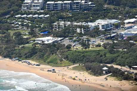BUSY DAY: A busy day at Rainbow Beach.
