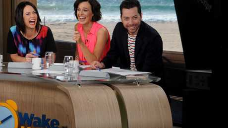 Wake Up stars: Natasha Exelby, Natarsha Belling and James Mathison.