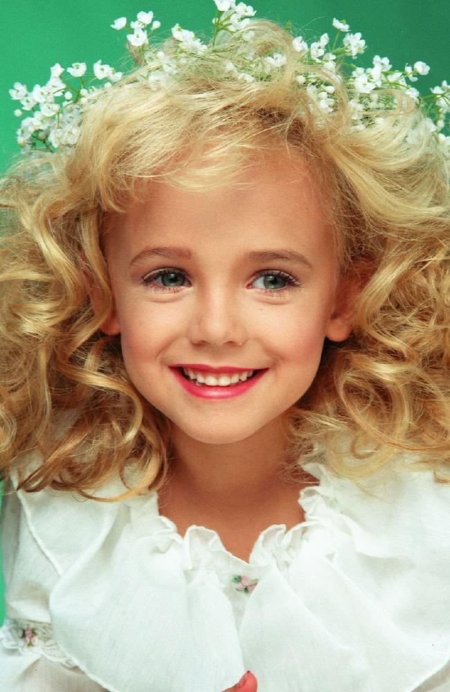 Murdered child beauty queen JonBenet Ramsey. Picture: Wikipedia