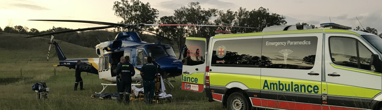 The Sunshine Coast-based RACQ LifeFlight Rescue helicopter aeromedical team flew to the aid of a woman, hit by a falling boulder, in Boooubyjan last night.