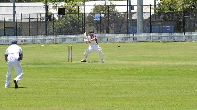 STRONG START: Brothers opener Kallen Lawrence aims to cut the ball to backward point in the side's clash with Tucabia-Copmanhurst Phil Lloyd Earthmoving.