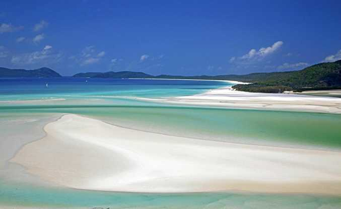PERFECTLY PRISTINE: The pure white sand and cool aqua blue waters of Australia's Whitehaven Beach.