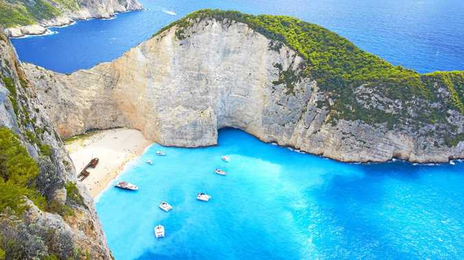 THE BEST: Shipwreck Beach, Zakynthos, in Greece.