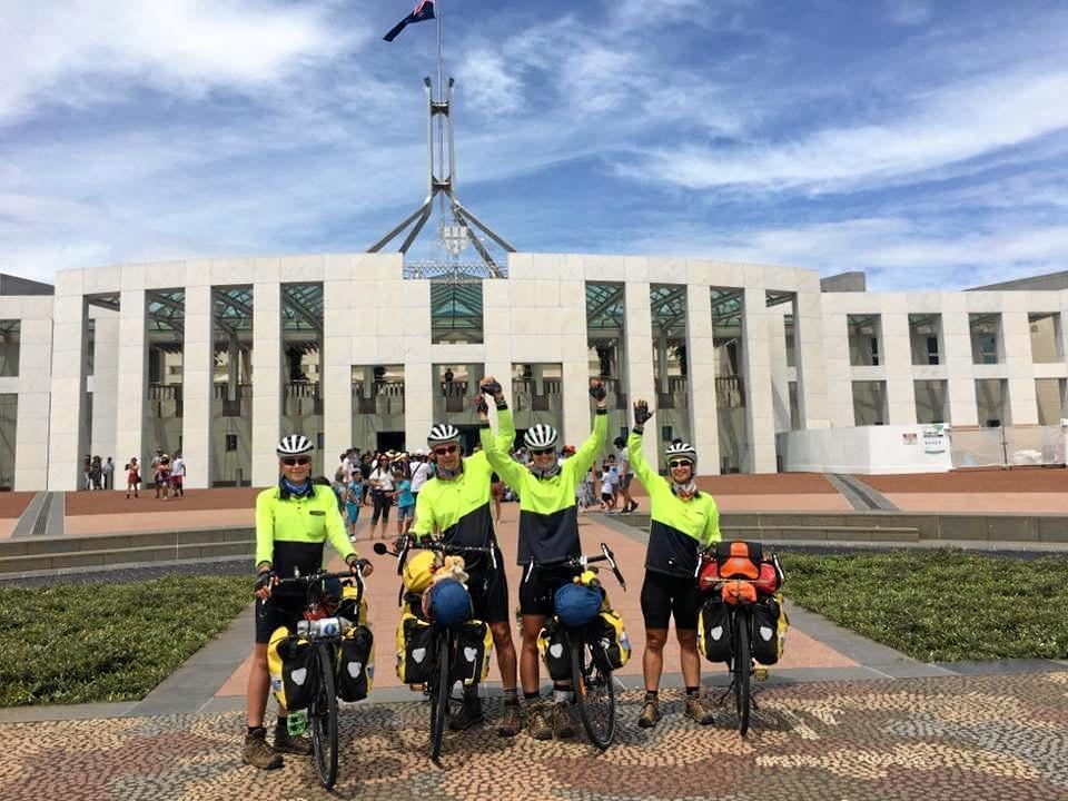 LOCAL HEROES: Bundaberg family spent A Year On A Bike raising awareness for motor neurone disease.