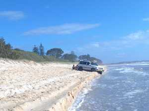 '4WD stupidity on the beach'